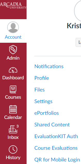 Accessing course evaluations in Canvas account