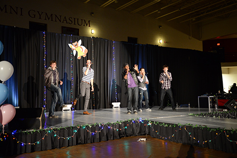 The a capella group Overboard emceed and performed throughout the show.