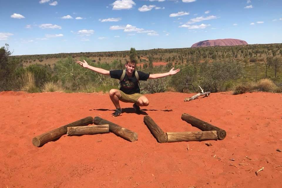 Blogger Will Snell posing in Australia.