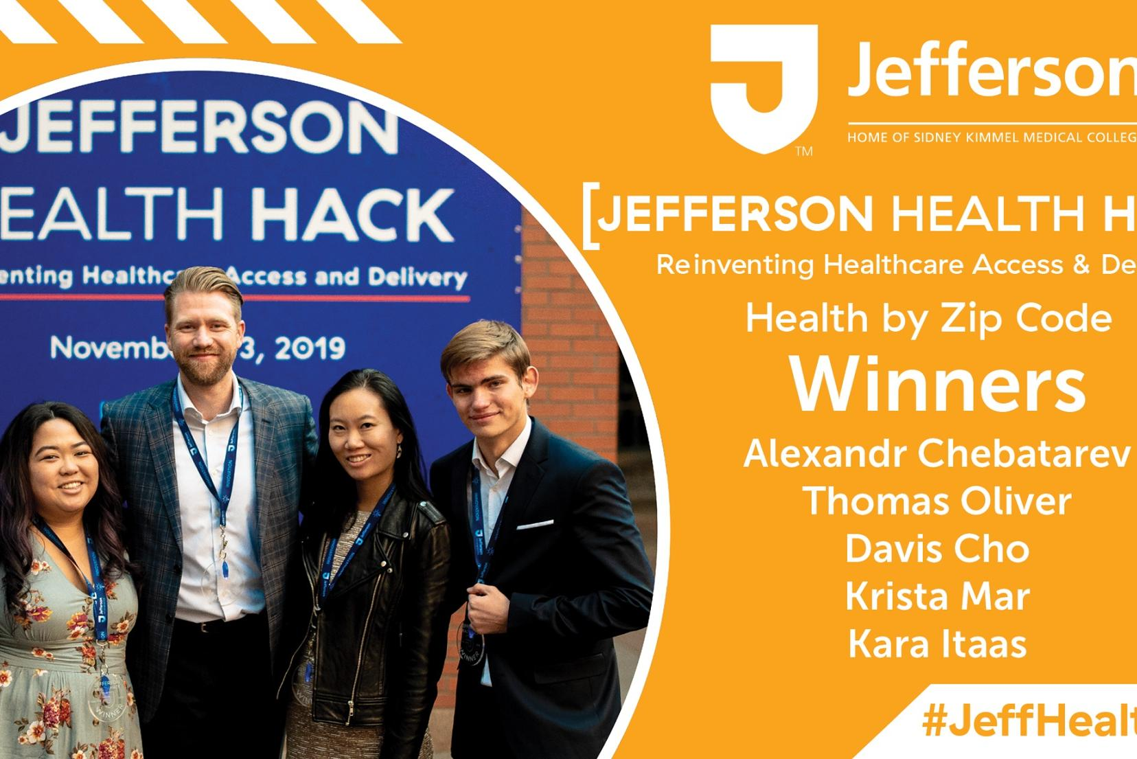 Arcadia computer science student wins a hackathon with a team