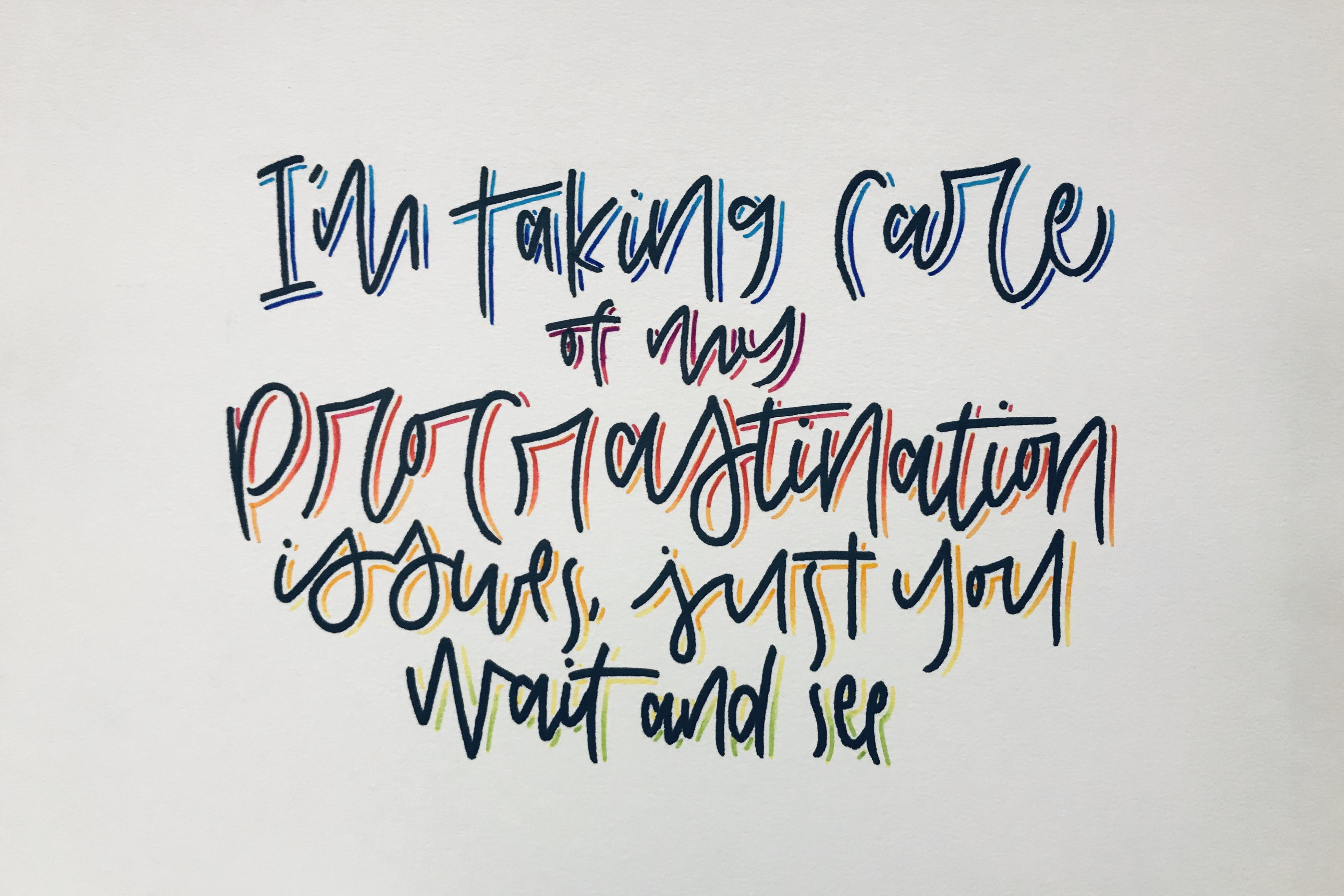 Hand lettering by Mia Woo