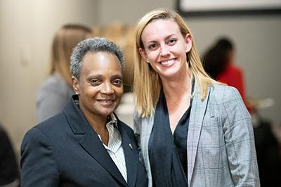 Taylor Raymond '16 and Chicago Mayor Lori E. Lightfoot
