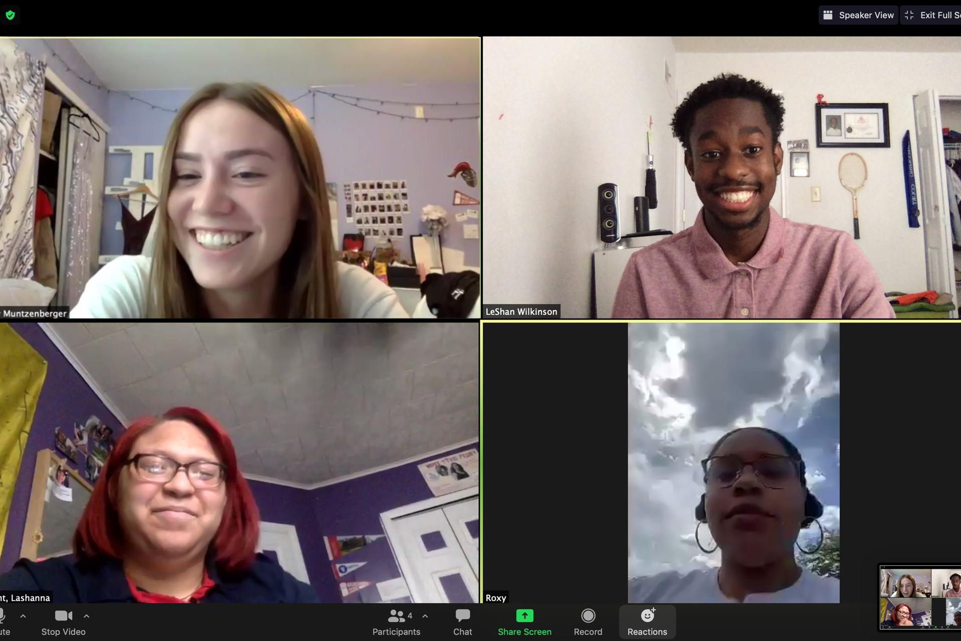 Arcadia University Student Government Organization meets over Zoom