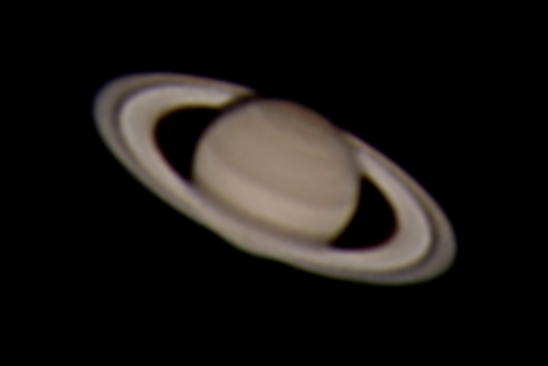 Photograph of Saturn shot by Arcadia University student Paul Broccardi