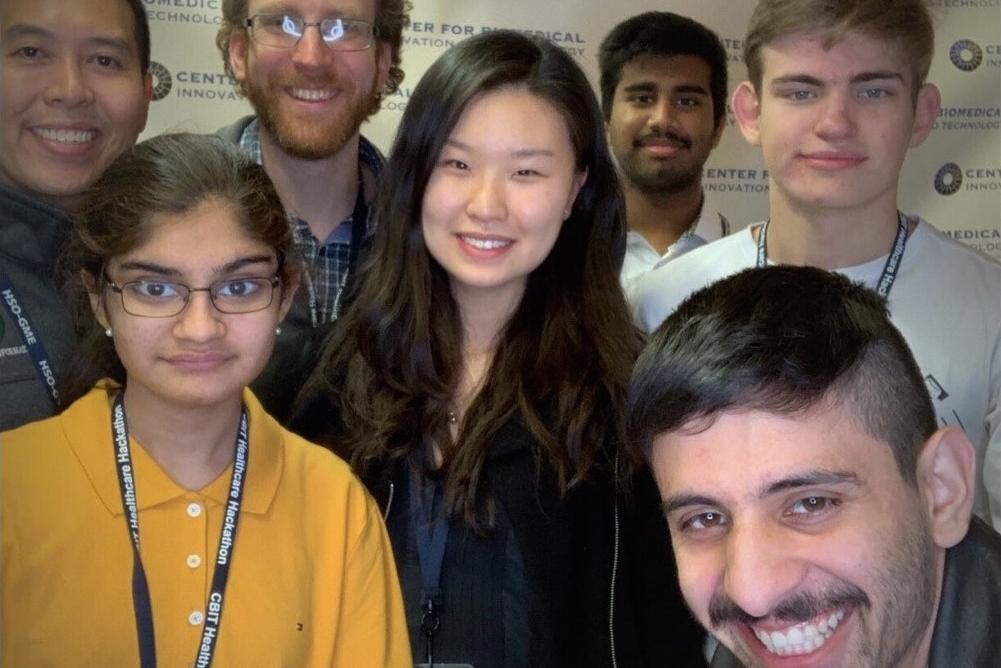Students participating in Yale Hackathon