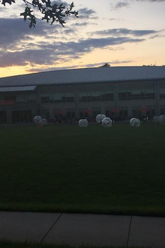 Bubble soccer on Haber Green