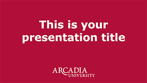 Presentation Template One