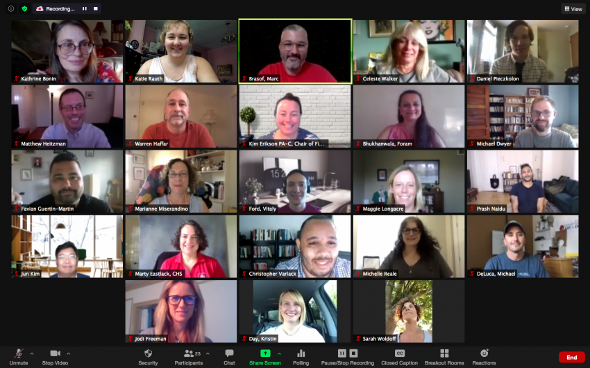 Faculty Senate in a Zoom Meeting