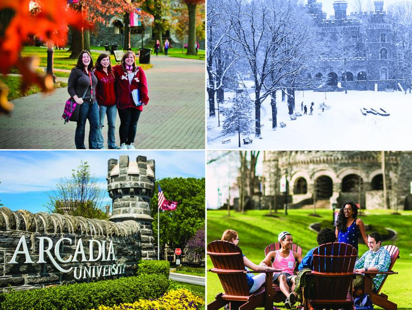 Four seasons on Arcadia's campus