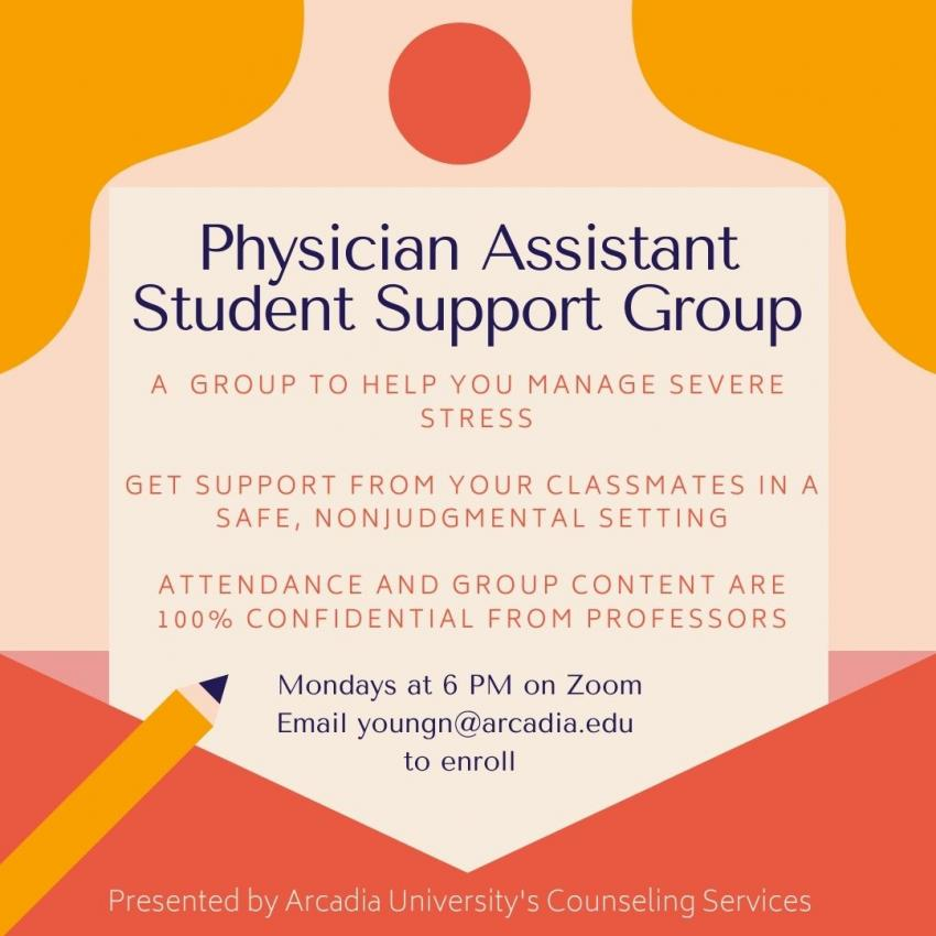 Physician Assistant Student Support Group
