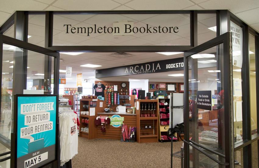 Entrance to Templeton Bookstore