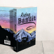 Book cover with Riding with a Bandit title, sunset and mountains for artwork