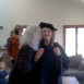 DPT graduate is hooded at home during her Arcadia University ceremony