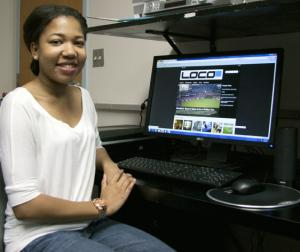 Student working on editing project