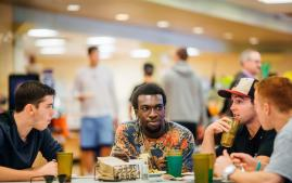 Students eating dinner in the Dining Hall