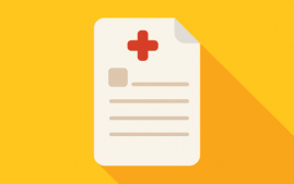 Health insurance form icon