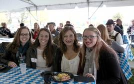 Alumni at Octoberfest