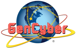 GenCyber Logo with code written on a globe