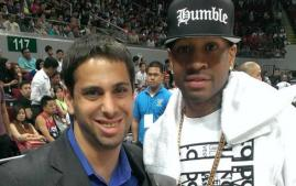 Jonathan Solomon '08 with Allen Iverson