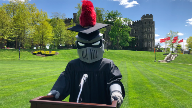 Arcadia Knight on the Green in Cap and Gown