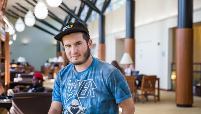 Anthony Carbonetta in Landman Library