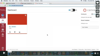 Screenshot of Canvas tutorial