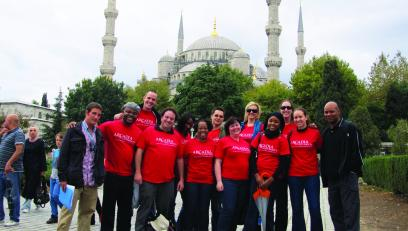 MBA students learning in Istanbul, Turkey