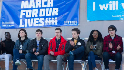 Arcadia University student Alejandro Lopez at March for Our Lives