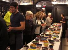 Arcadia Students and community at Empty Bowl Benefit Dinner