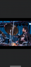 Photo of Khary Abdul Shaheed playing the drums