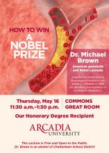 Flyer for how to win a nobel prize