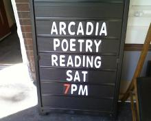 Poetry reading by Arcadia students