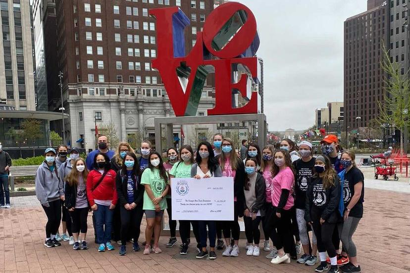 Physician Assistant Class of 2022 at the LOVE statue in Philadelphia