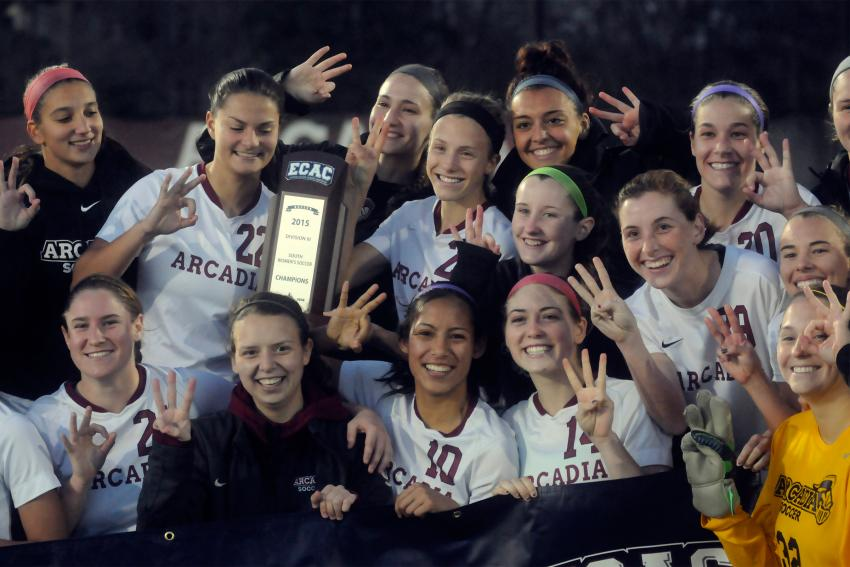 Members of the women's soccer team, which took its third ECAC title this fall, are among those recognized in the MAC Honor Roll.