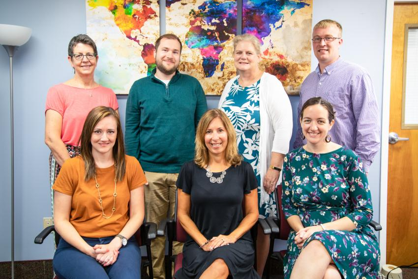 Seven of the staff members in Counseling Services