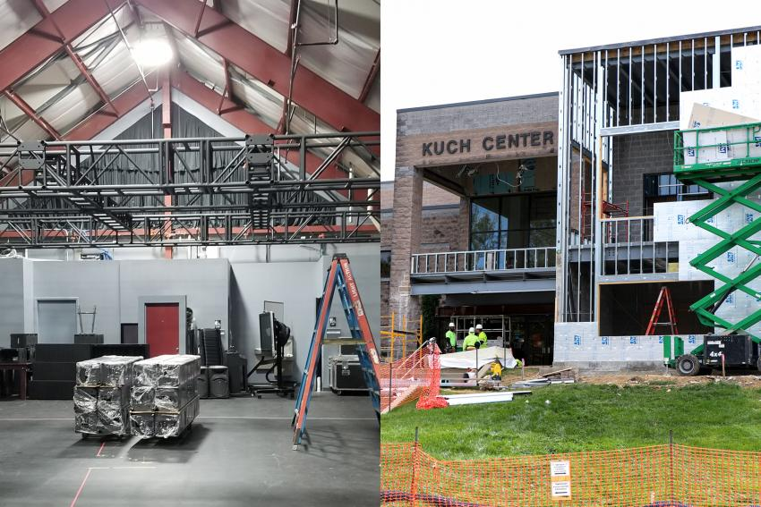 Steel Space and Kuch Center during renovations