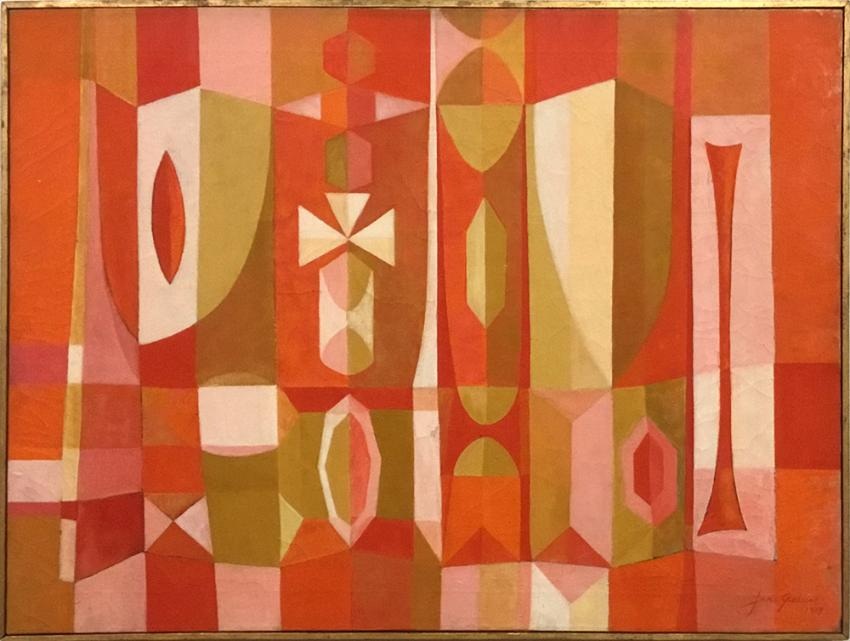 """""""Red Screen"""" by Jane Geayer,1959"""