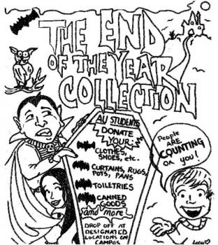 Community and Civic Engagement Center flyer for collection