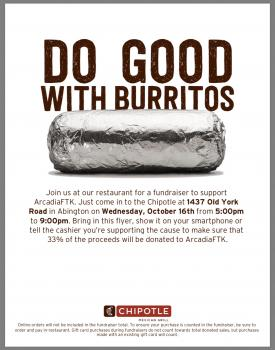 Chipotle flyer for fundraiser