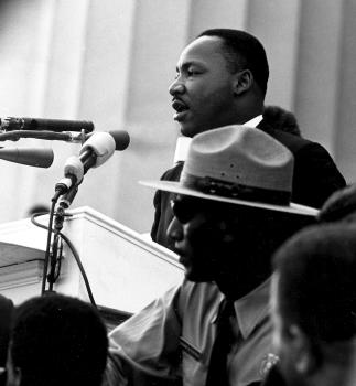 Image of Martin Luther King, Jr. at podium
