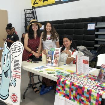 Mendoza at health fair
