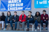 Arcadia University student Alejandro Lopez at March for Our Lives (far right)