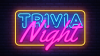 Trivia Night Wording in Neon Colors